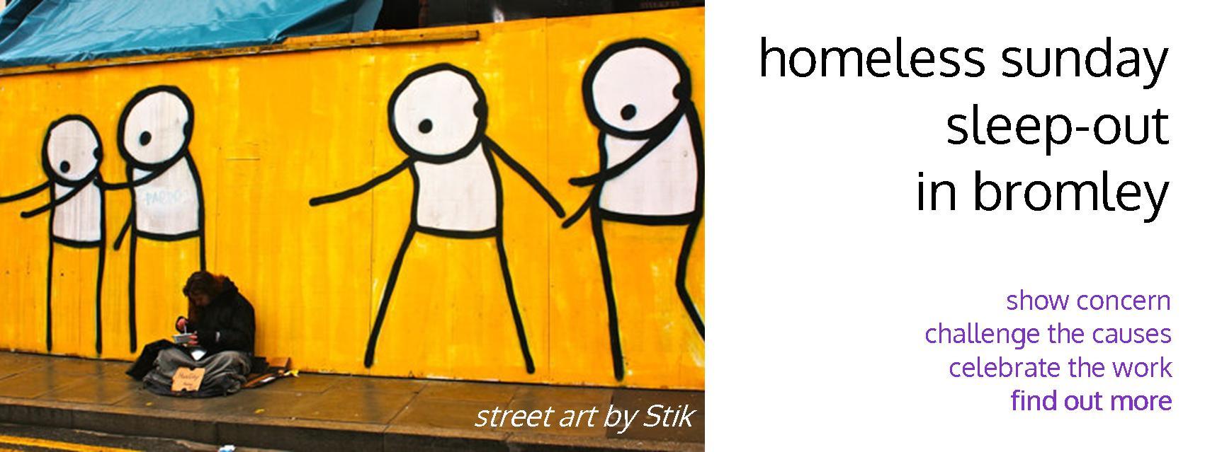 Homeless Sunday - art by Stik