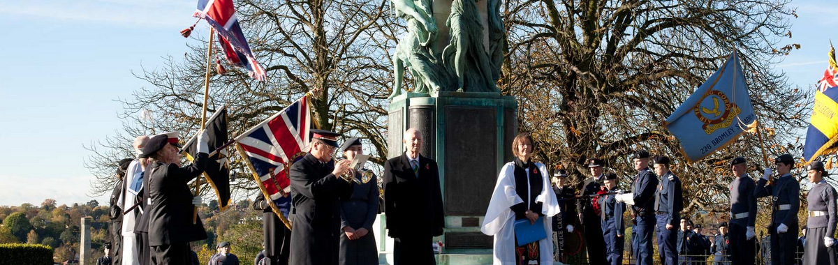 Remembrance Day Wreath laying: Martin's Hill Bromley