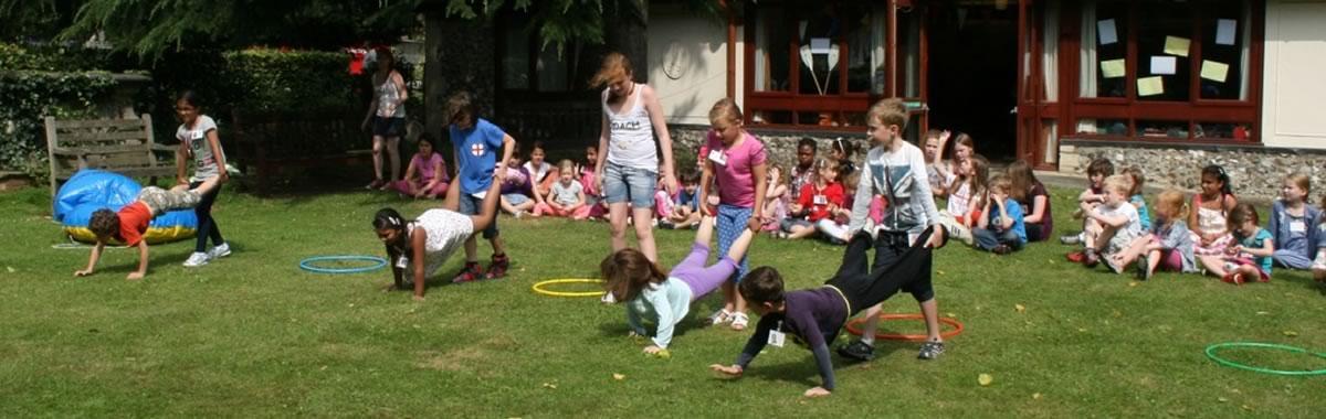 children enjoying holiday club
