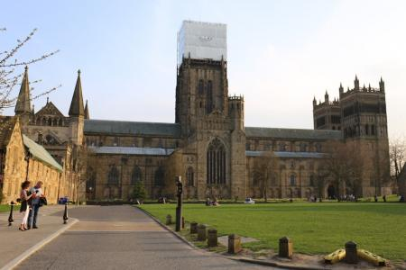 The Cathedral is wearing a bandage while stonework is being repaired