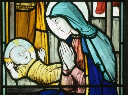 Chapel Window - Jesus and Mary